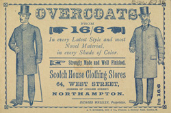 Advertisement for the Scotch House Clothing Stores